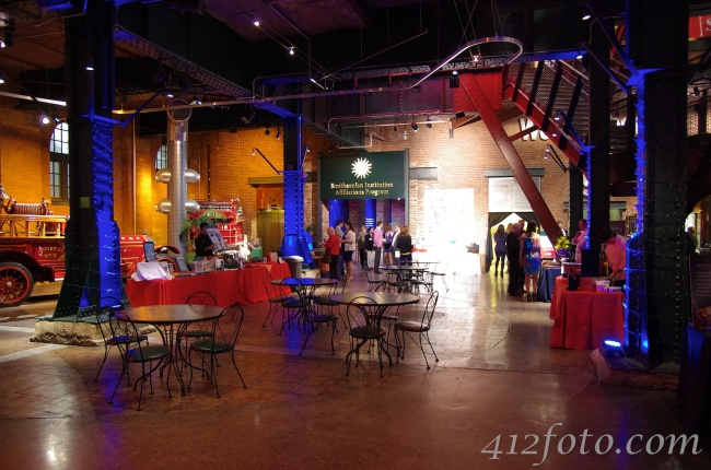 The Heinz History Center before guests arrive where you can see the lighting and general room setup.