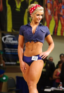 Figure and bikini model competing at the Kumite Classic.